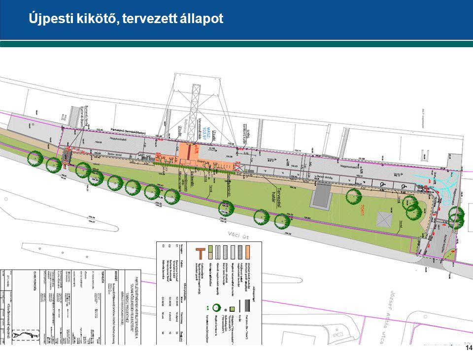 14 Újpesti kikötő, tervezett állapot