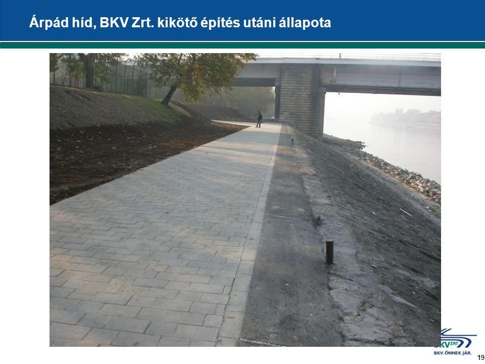 19 Árpád híd, BKV Zrt. kikötő építés utáni állapota