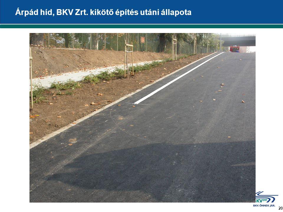 20 Árpád híd, BKV Zrt. kikötő építés utáni állapota