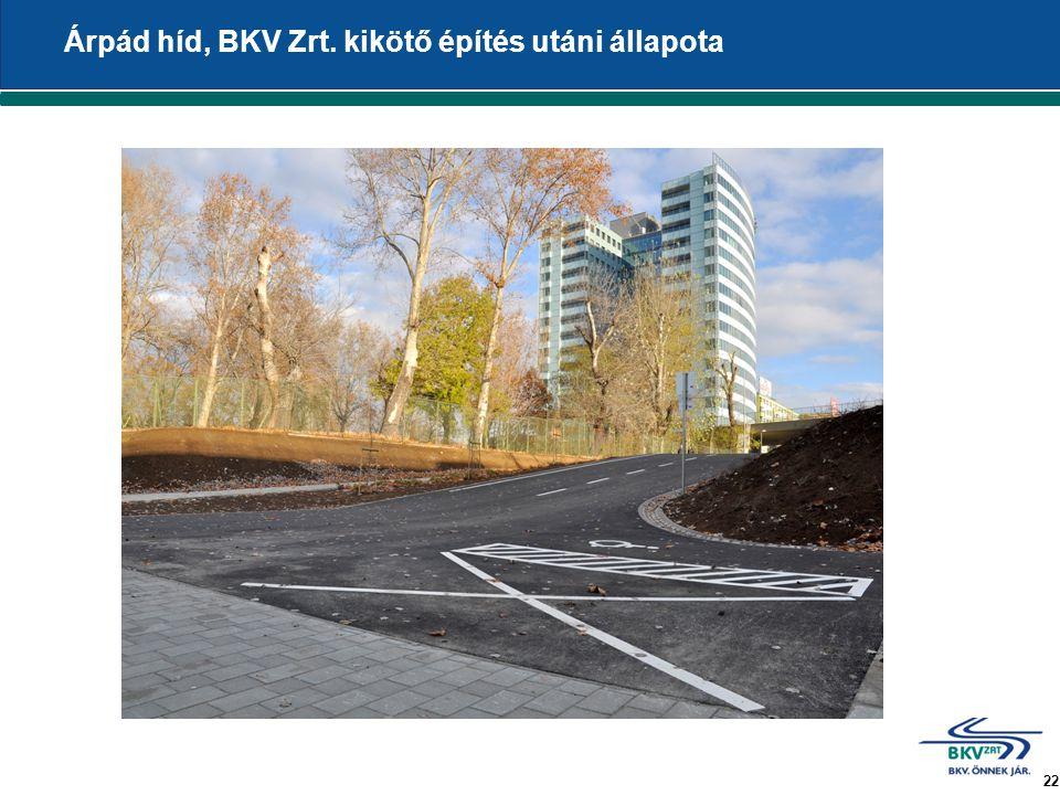 22 Árpád híd, BKV Zrt. kikötő építés utáni állapota