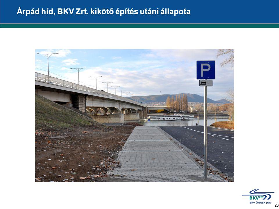 23 Árpád híd, BKV Zrt. kikötő építés utáni állapota