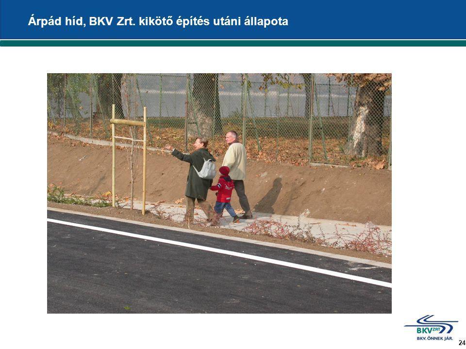 24 Árpád híd, BKV Zrt. kikötő építés utáni állapota