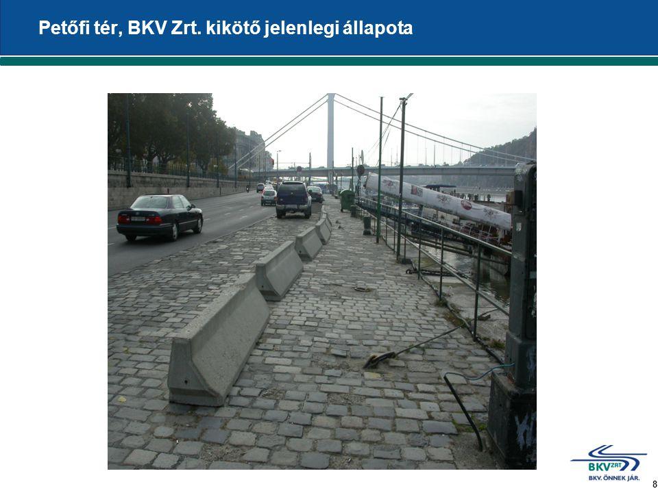8 Petőfi tér, BKV Zrt. kikötő jelenlegi állapota