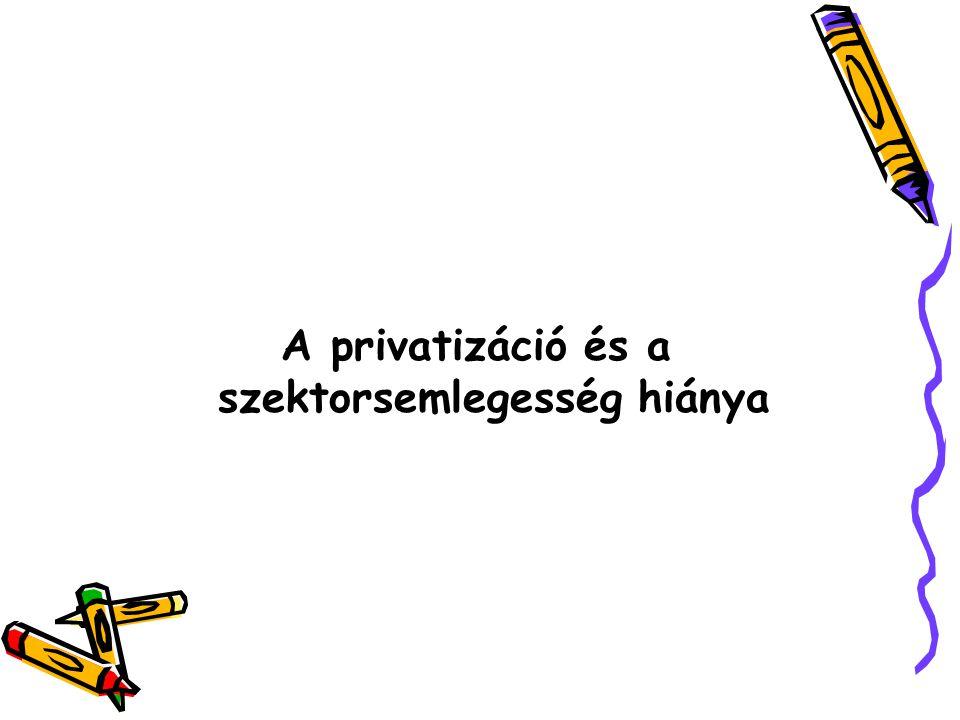 A privatizáció és a szektorsemlegesség hiánya