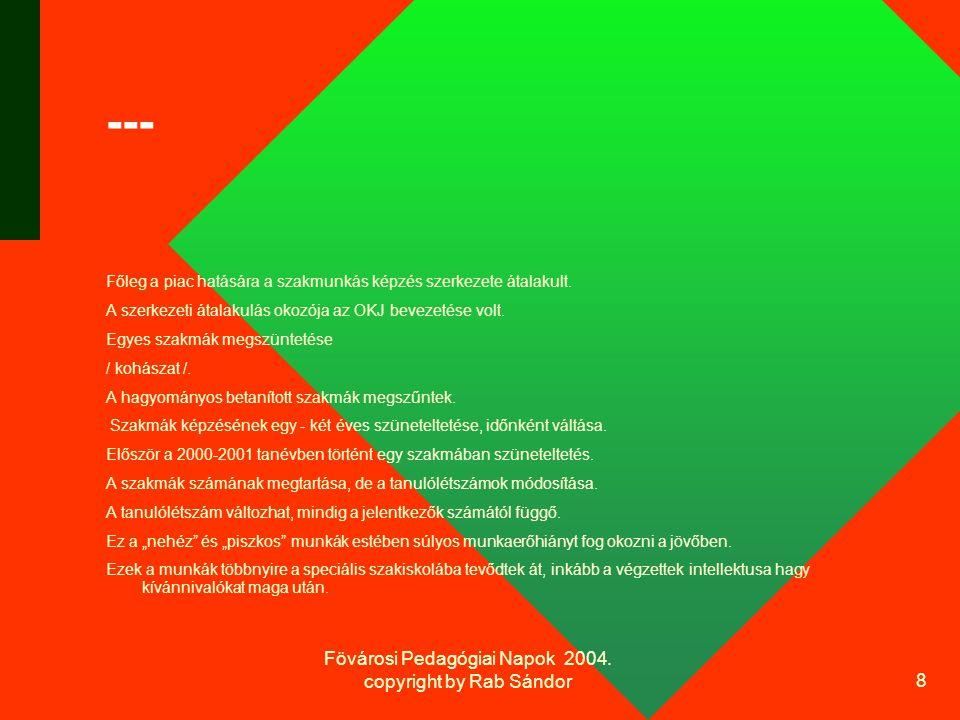 Fövárosi Pedagógiai Napok 2004.