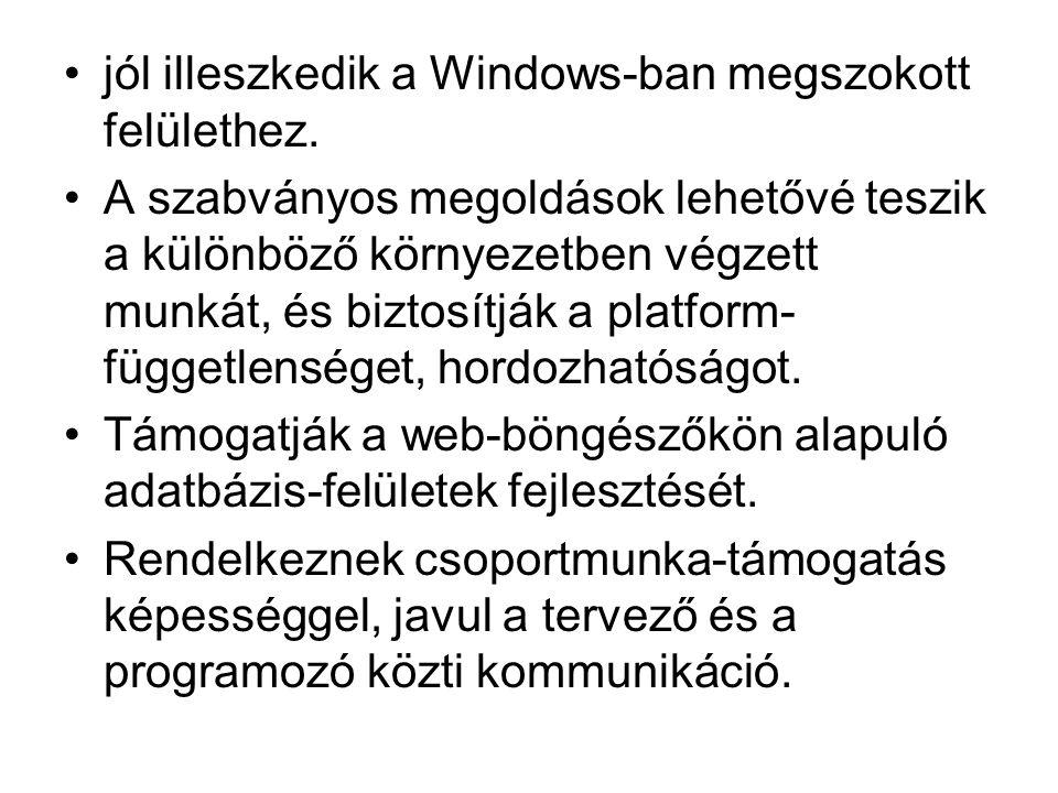 jól illeszkedik a Windows-ban megszokott felülethez. A szabványos megoldások lehetővé teszik a különböző környezetben végzett munkát, és biztosítják a