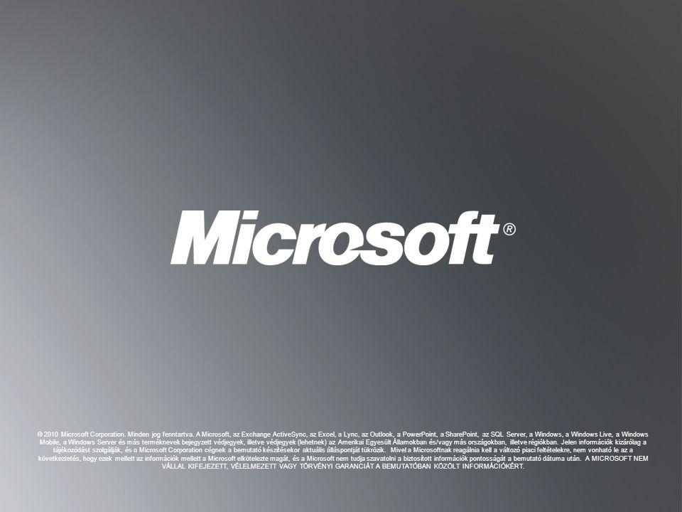 """V ISSZA A """"C ÉLOK """" DIÁRA V ISSZA A """"C ÉLOK """" DIÁRA © 2010 Microsoft Corporation. Minden jog fenntartva. A Microsoft, az Exchange ActiveSync, az Excel"""