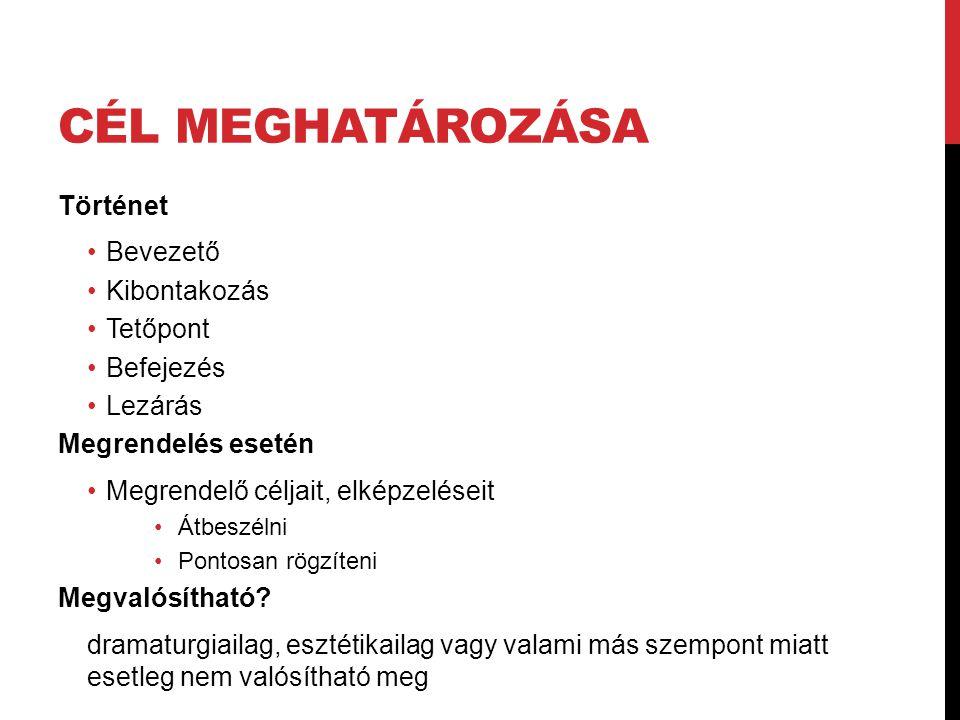 Szint/ Médium I.BEJELENTKEZŐ KÉP II. Köszöntés III.