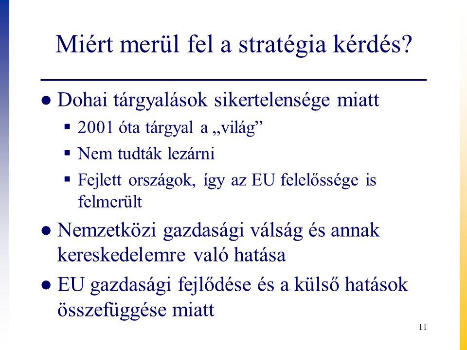 Miért merül fel a stratégia kérdés.
