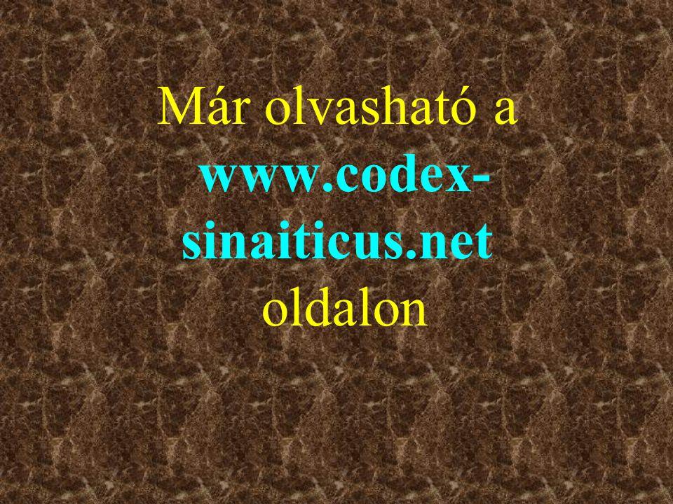 Már olvasható a www.codex- sinaiticus.net oldalon