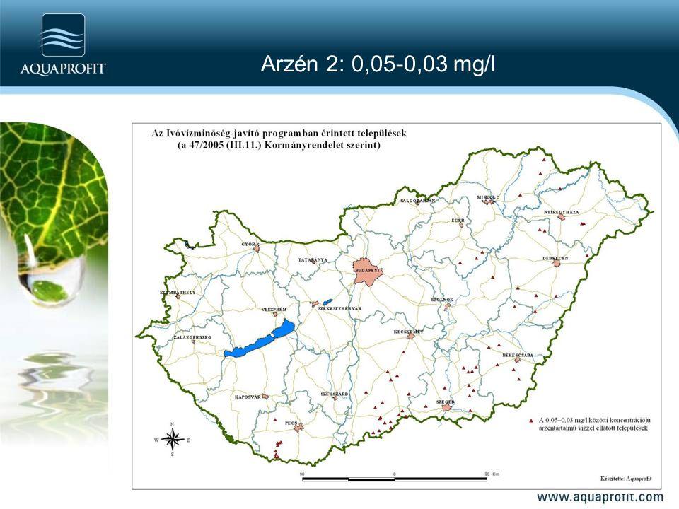 Arzén 2: 0,05-0,03 mg/l