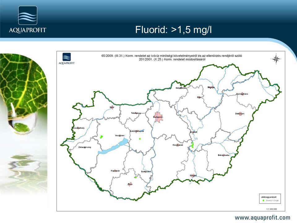 Fluorid: >1,5 mg/l