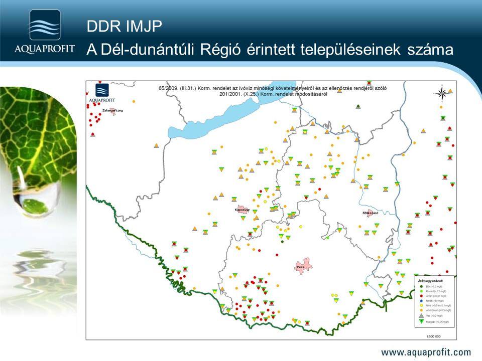 DDR IMJP A Dél-dunántúli Régió érintett településeinek száma