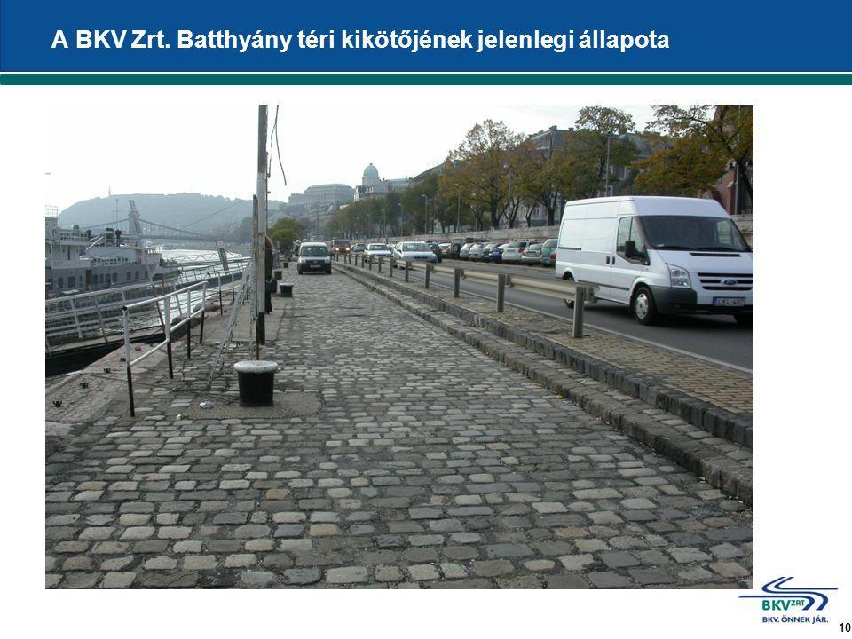10 A BKV Zrt. Batthyány téri kikötőjének jelenlegi állapota