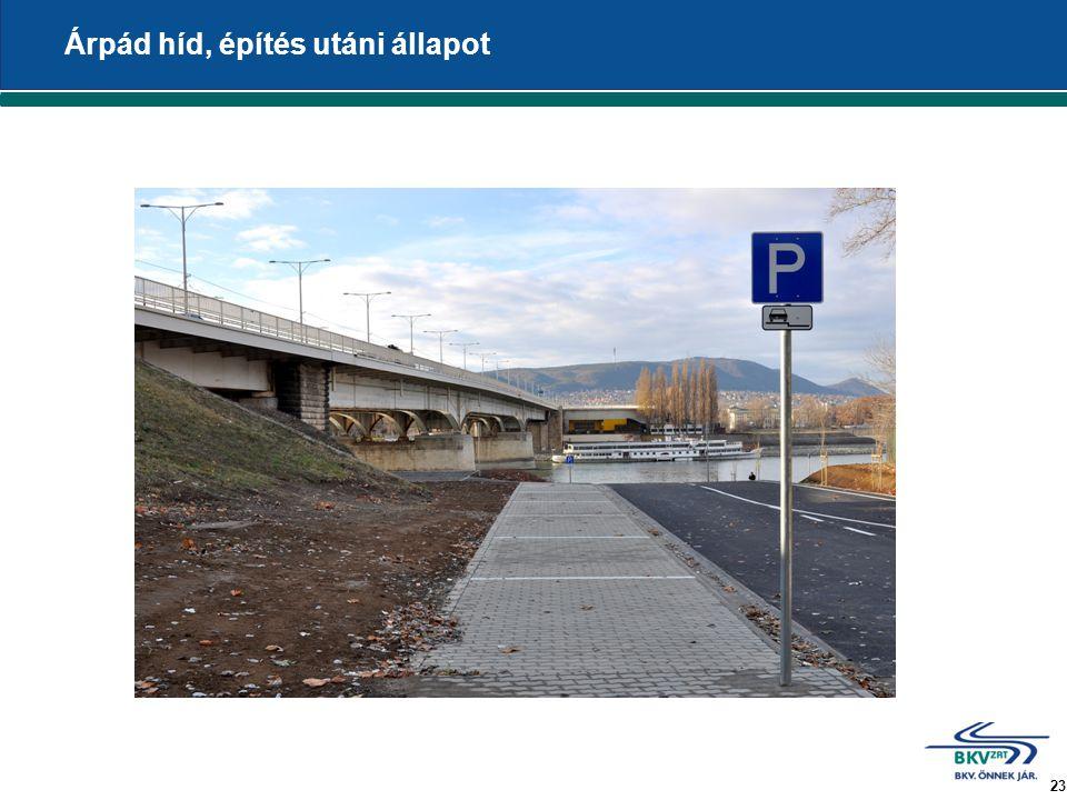 23 Árpád híd, építés utáni állapot