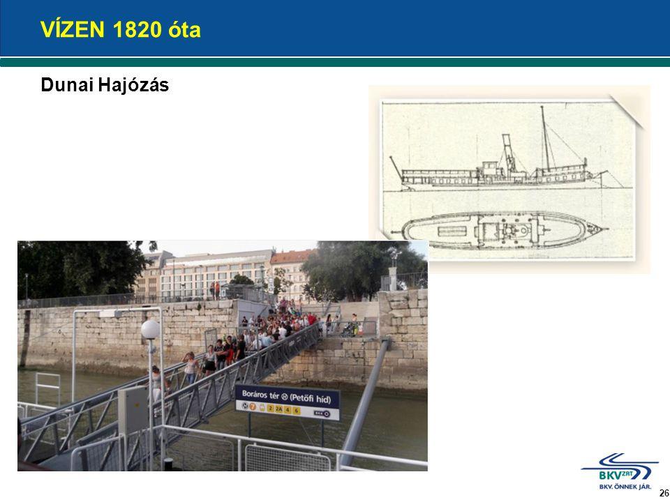 VÍZEN 1820 óta Dunai Hajózás 26