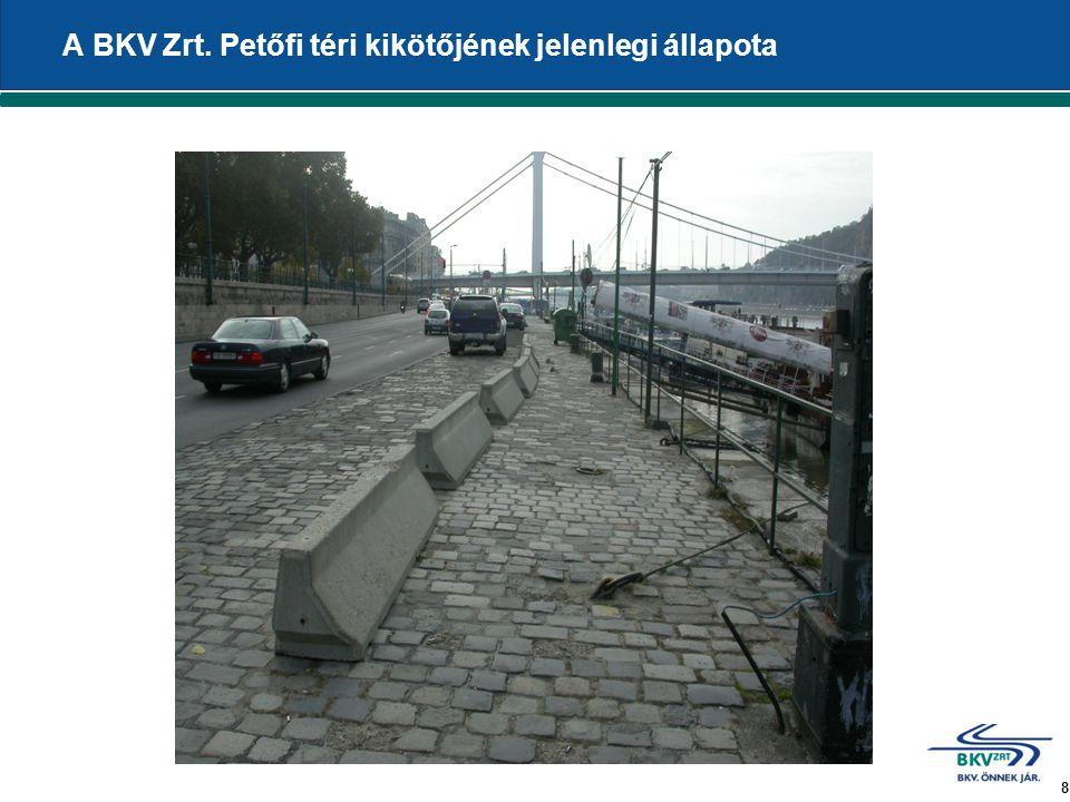 8 A BKV Zrt. Petőfi téri kikötőjének jelenlegi állapota