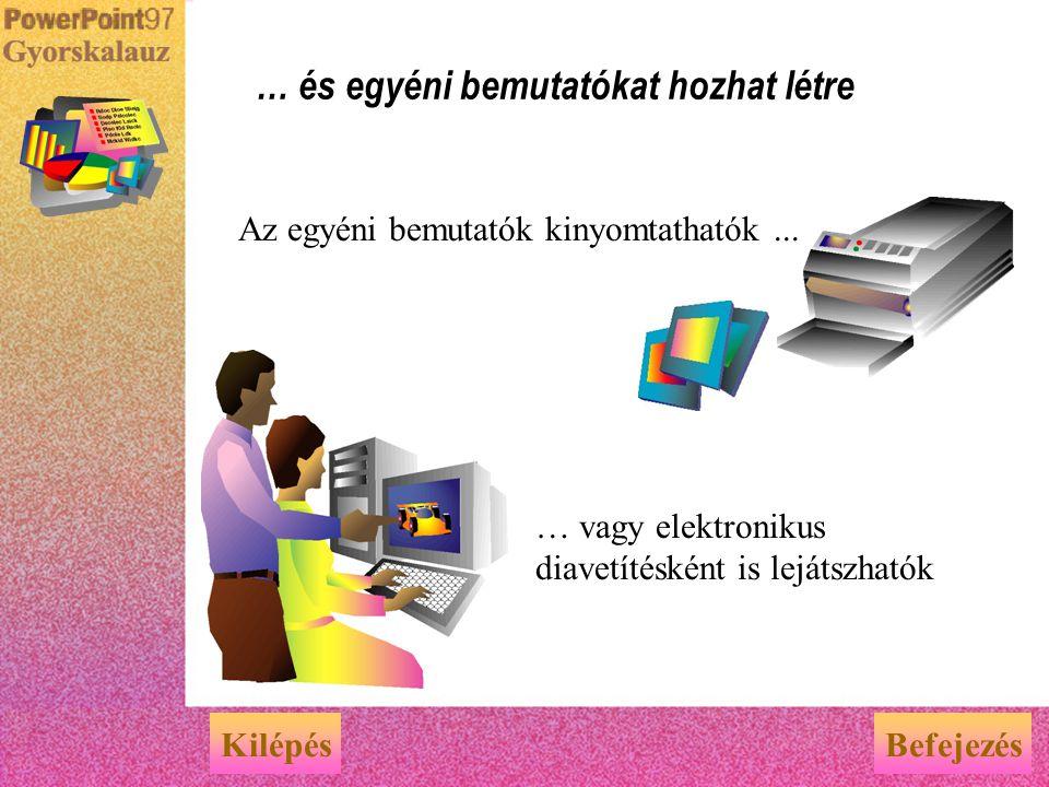Egyéni bemutató X ügyfél számára Az egy bemutató fájlban tárolt diák közül válogatva több egyéni bemutatót is készíthet. Bemutató fájl 1. dia2. dia3.d