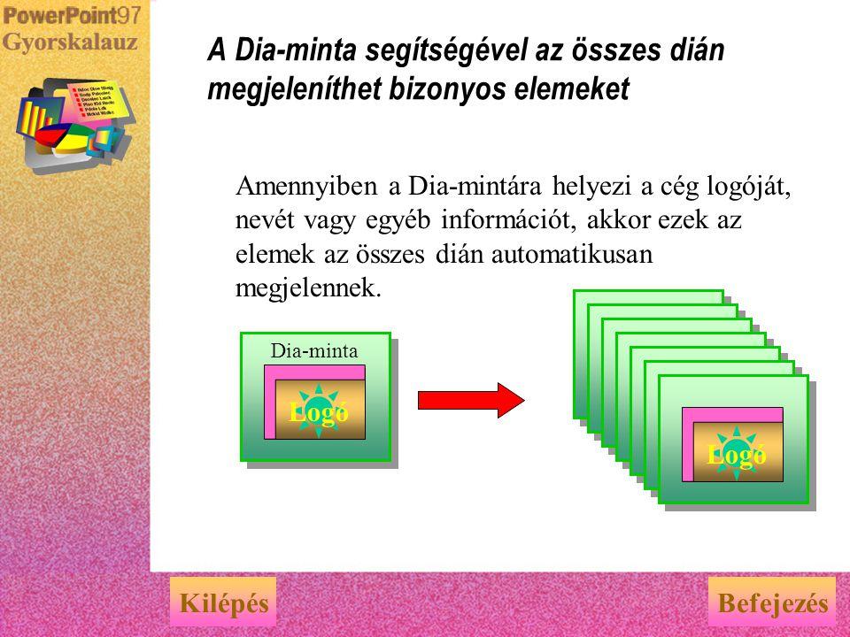 A bemutató a Diavetítés nézetben tekinthető meg A bemutató interaktív megtekintése a számítógépen KilépésBefejezés