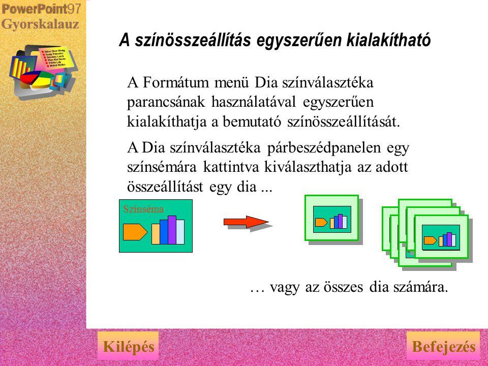 Amennyiben a Dia-mintára helyezi a cég logóját, nevét vagy egyéb információt, akkor ezek az elemek az összes dián automatikusan megjelennek. Dia-minta
