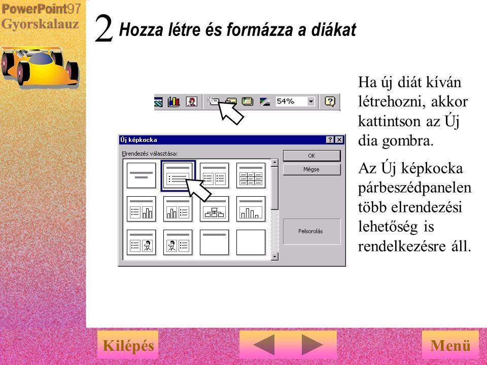 Menü … az Előadástervező Varázsló javaslatot tesz a bemutató tartalmára és elrendezésére vonatkozóan Helyettesítse be a javasolt témákat saját tartalo