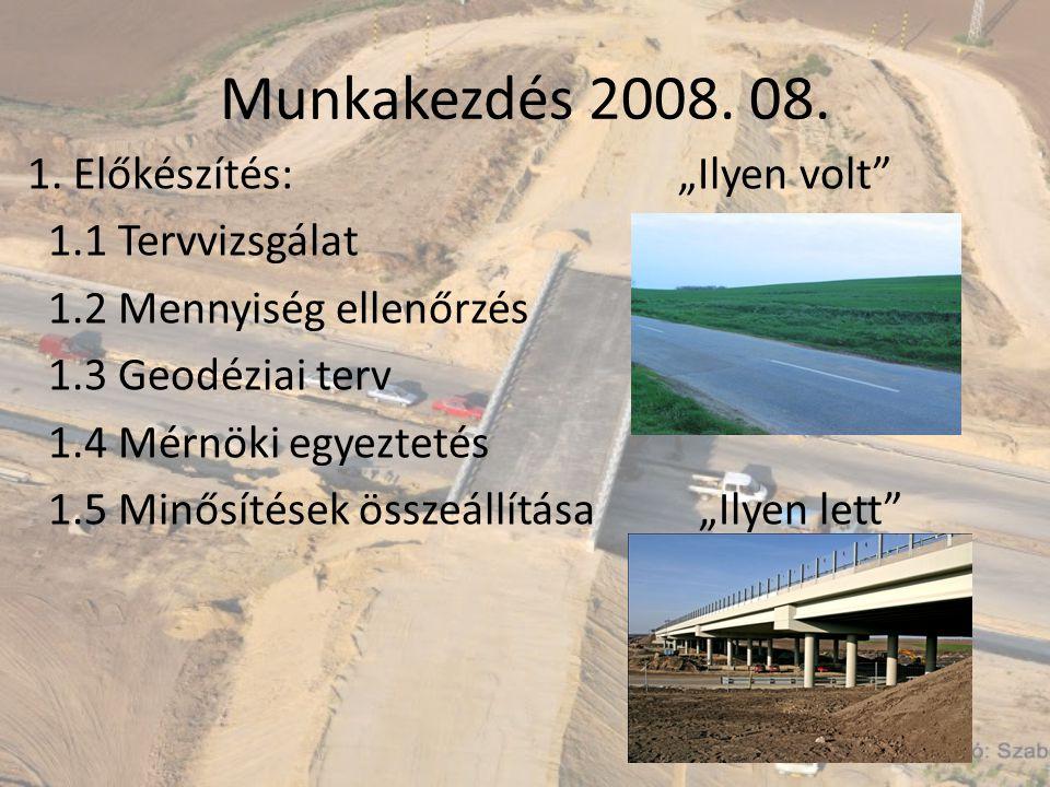 Munkakezdés 2008. 08. 1.