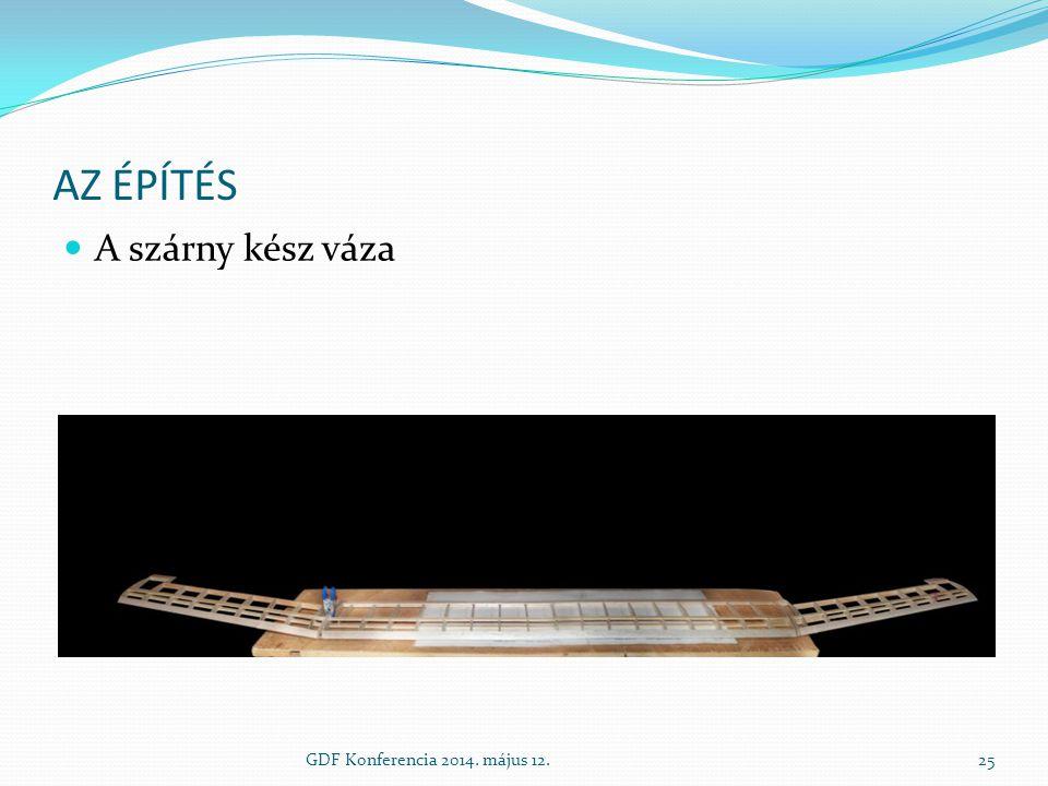 AZ ÉPÍTÉS A szárny kész váza GDF Konferencia 2014. május 12.25