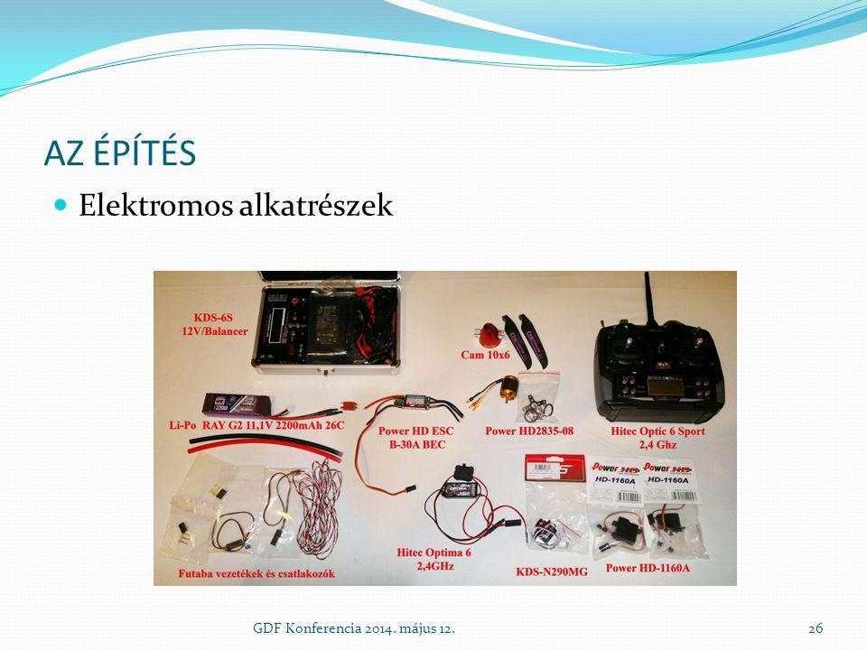 AZ ÉPÍTÉS Elektromos alkatrészek GDF Konferencia 2014. május 12.26