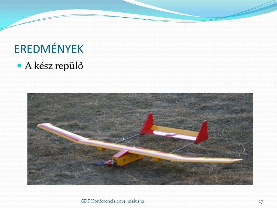 EREDMÉNYEK A kész repülő GDF Konferencia 2014. május 12.27