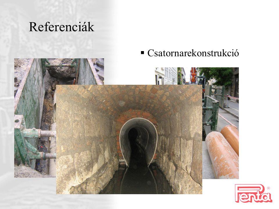 Referenciák  C satornarekonstrukció
