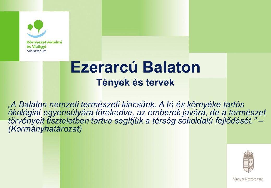 """Ezerarcú Balaton Tények és tervek """"A Balaton nemzeti természeti kincsünk."""