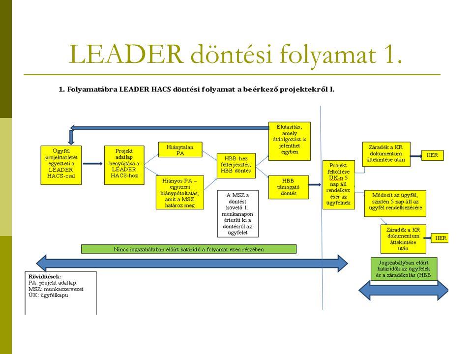 LEADER döntési folyamat 1.