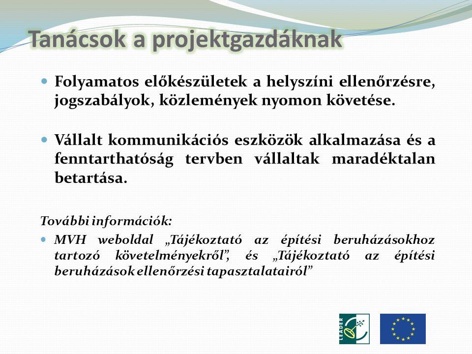 Folyamatos előkészületek a helyszíni ellenőrzésre, jogszabályok, közlemények nyomon követése.