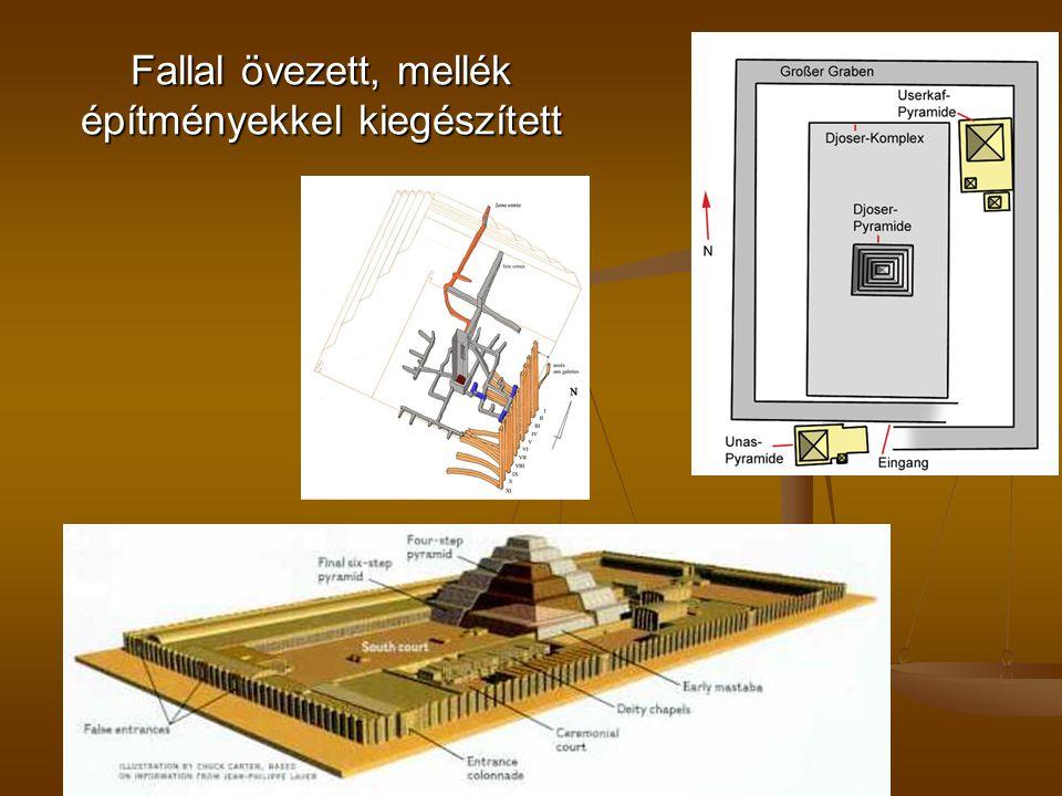 Fallal övezett, mellék építményekkel kiegészített