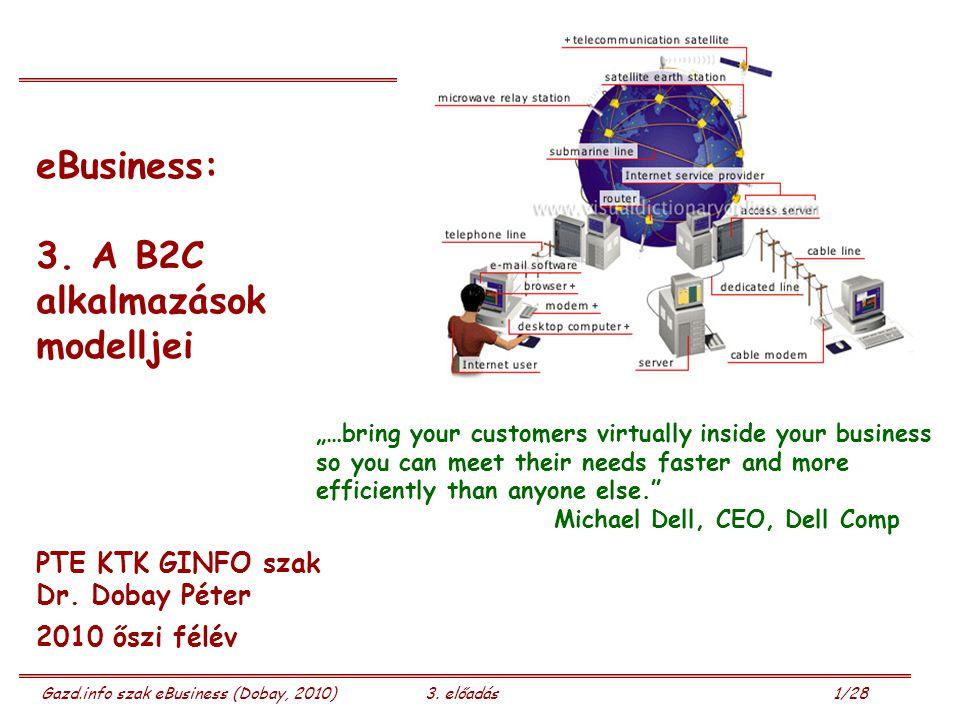 Gazd.info szak eBusiness (Dobay, 2010)3.előadás 2/28 Következik: 3.
