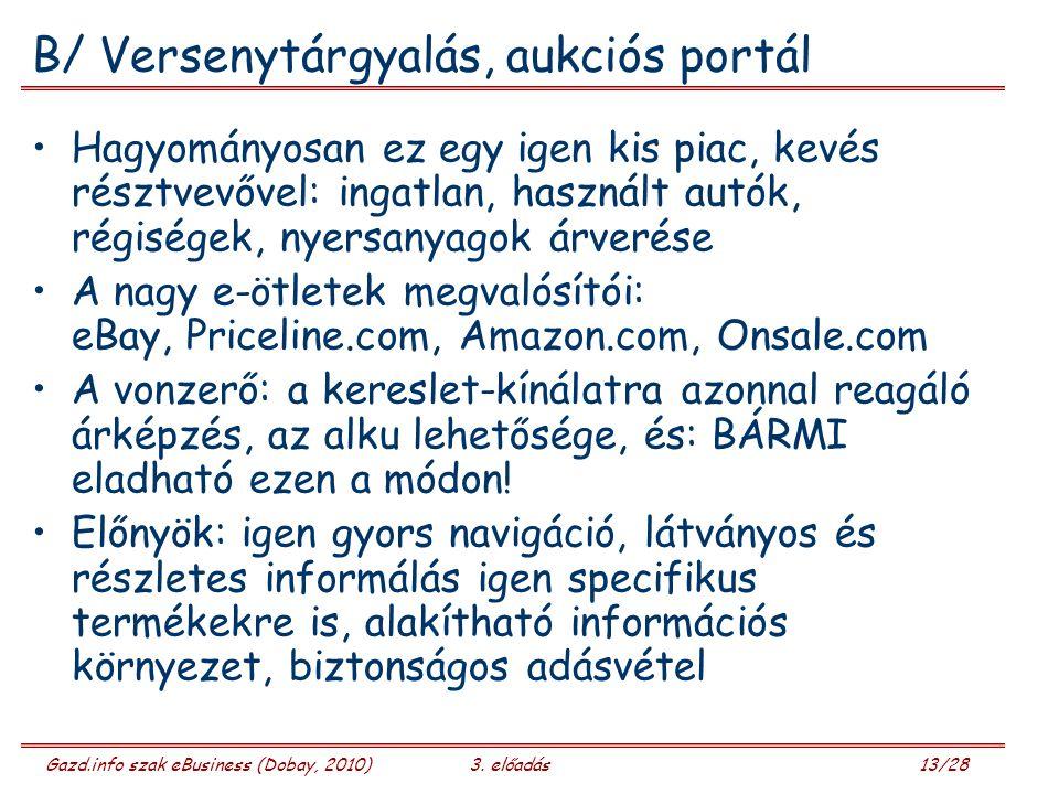 Gazd.info szak eBusiness (Dobay, 2010)3.