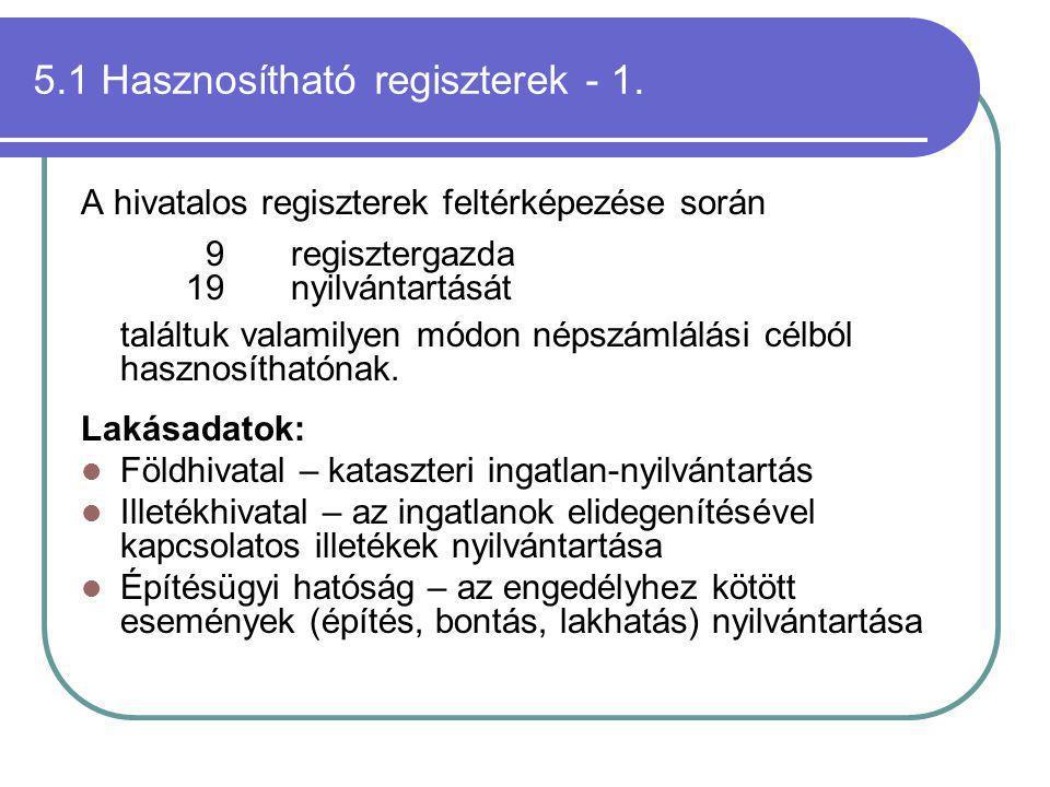 5.1 Hasznosítható regiszterek - 1.