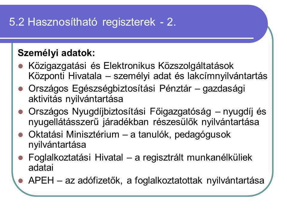 5.2 Hasznosítható regiszterek - 2.