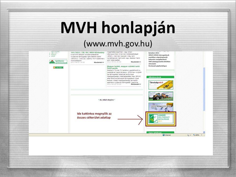 MVH honlapján (www.mvh.gov.hu)