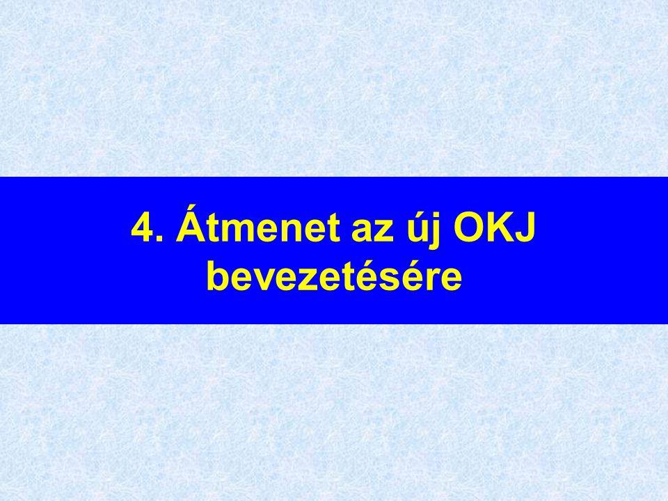 4. Átmenet az új OKJ bevezetésére