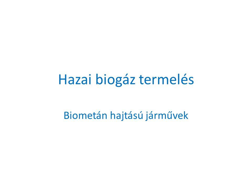Hazai biogáz termelés Biometán hajtású járművek