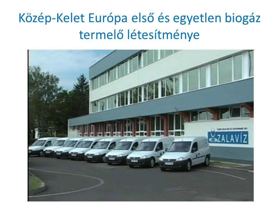 Közép-Kelet Európa első és egyetlen biogáz termelő létesítménye