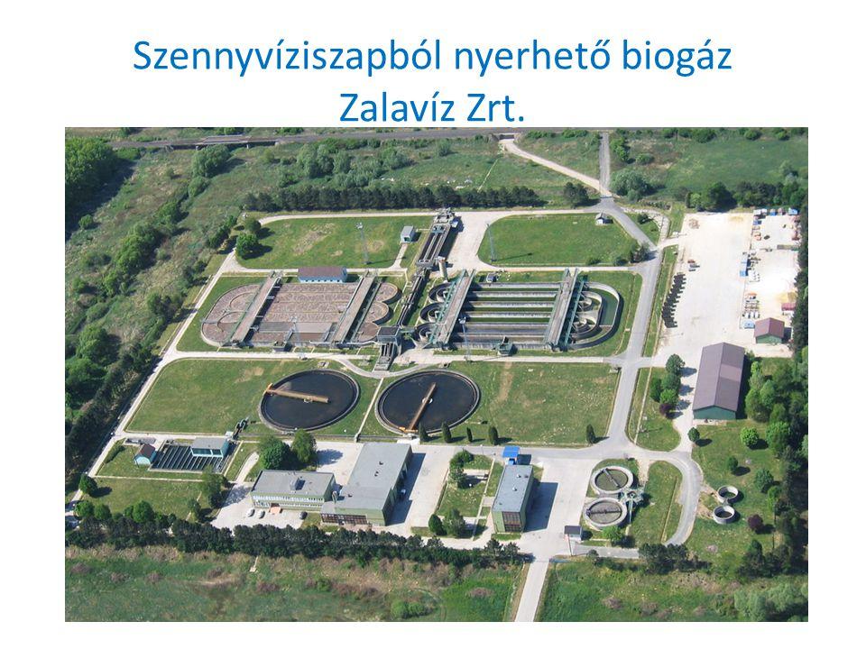 Szennyvíziszapból nyerhető biogáz Zalavíz Zrt.