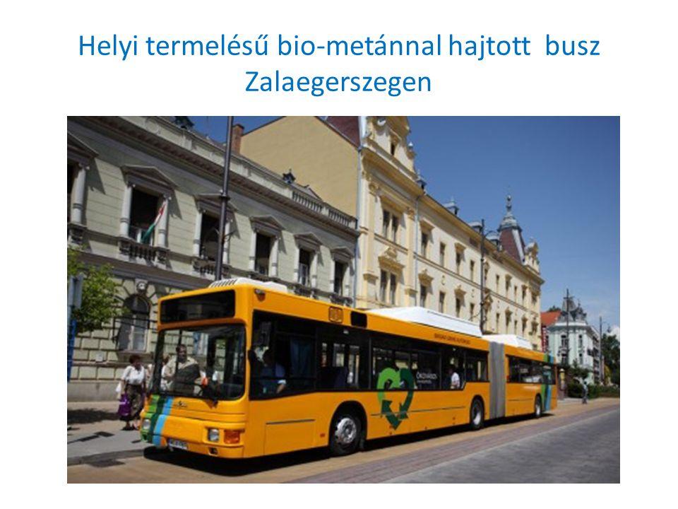 Helyi termelésű bio-metánnal hajtott busz Zalaegerszegen