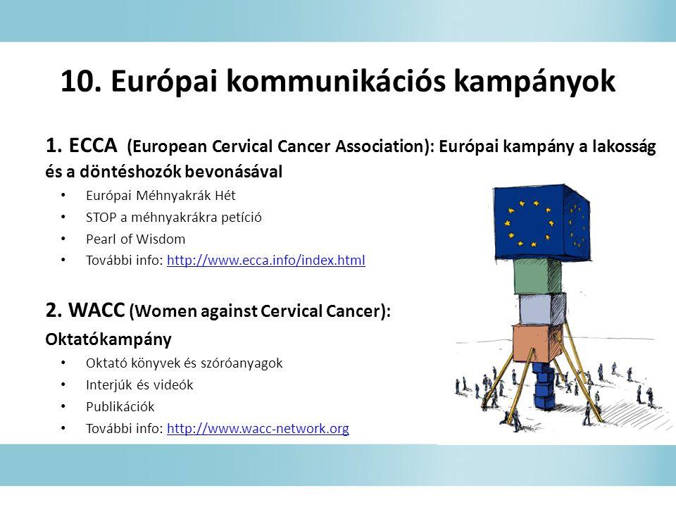 10. Európai kommunikációs kampányok 1.