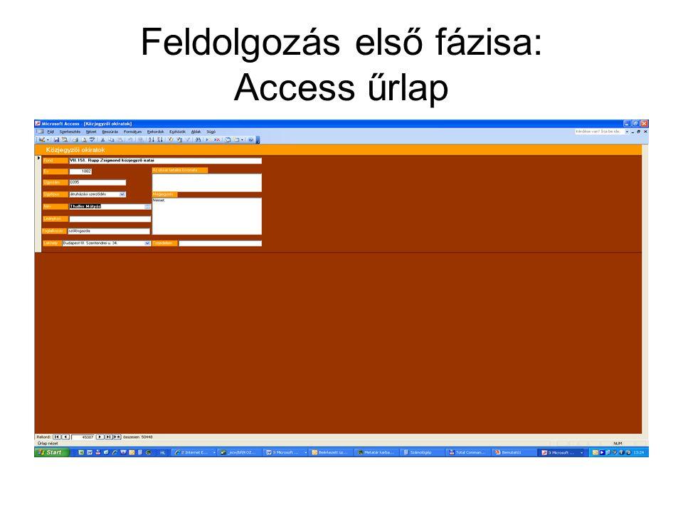 Közjegyzői iratok digitalizálása Négy közjegyző teljes anyaga: - VII.168 Görgei István IV.
