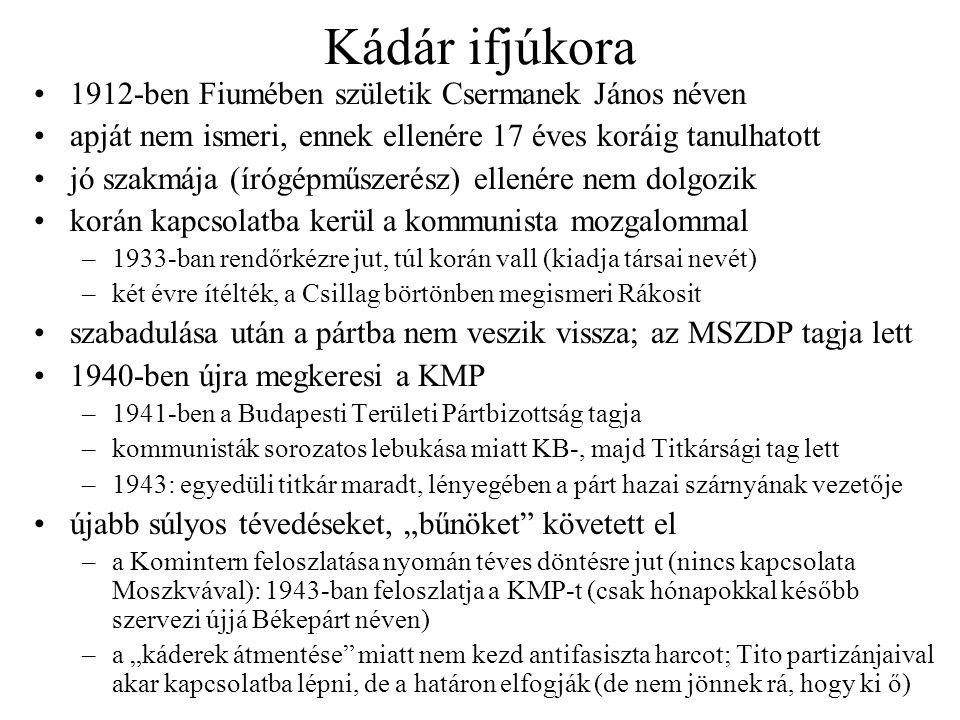 Felelős posztok és letartóztatás 1945-ben pártfegyelmit kapott Gerőtől (a KMP feloszlatásáért), de fővárosi rendőrkapitány-helyettes, KV-, Titkárság- és PB-tag, a káderosztály vezetője, nemzetgyűlési képviselő lett 1946-ban ő terjeszti elő a B-lista tervét, az MKP III.