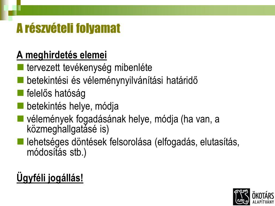 Az együttműködés helyzete ma Hatékony érdekartikuláció : pl.