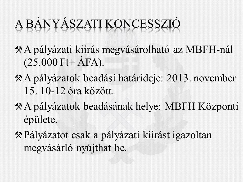 A pályázati kiírás megvásárolható az MBFH-nál (25.000 Ft+ ÁFA).