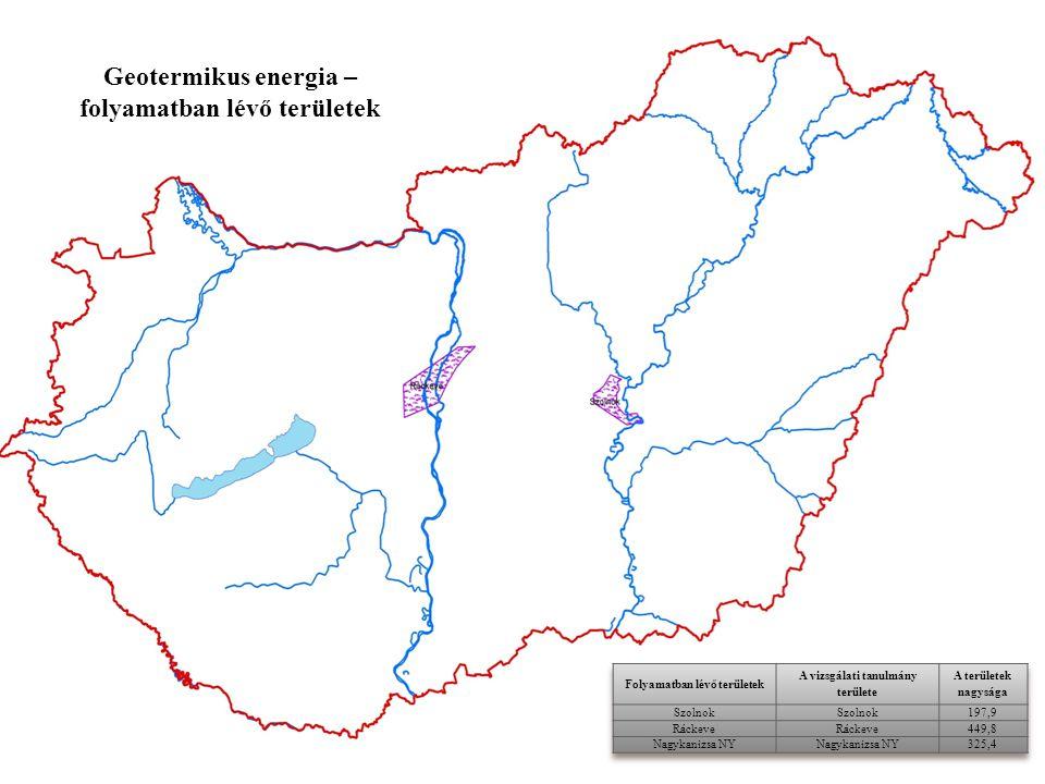 Geotermikus energia – folyamatban lévő területek